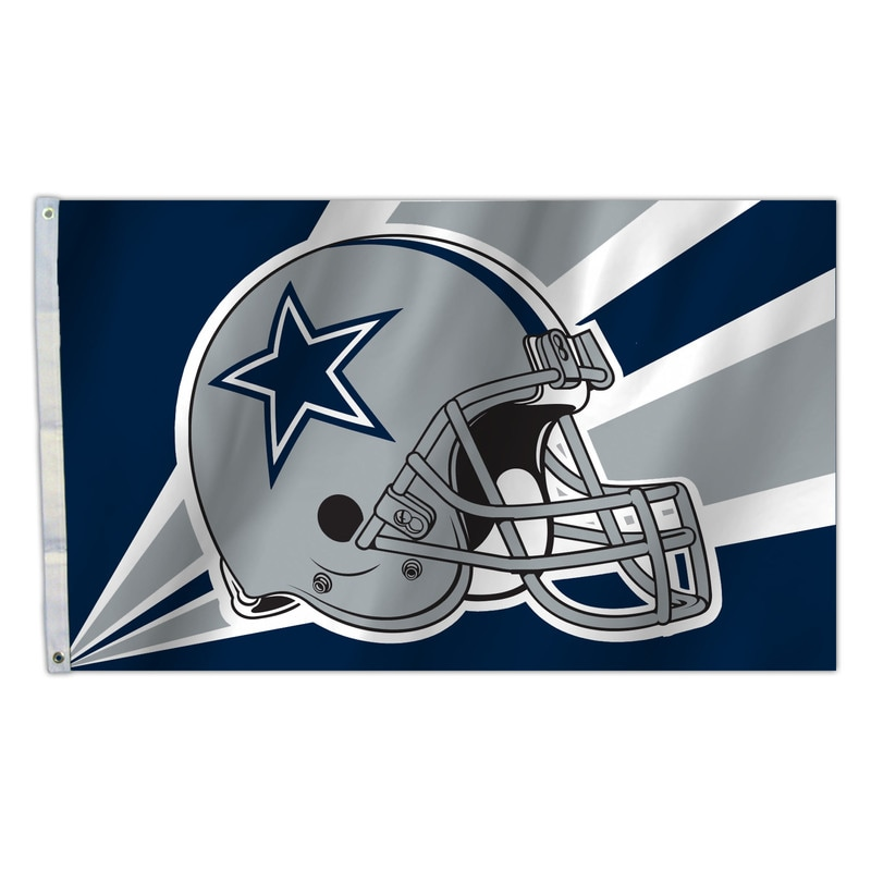 Football Nfl Football Dallas Cowboys Helmets Masks - 2324594203 - Dallas Cowboys Flag 3x5 Helmet Design 2324594203