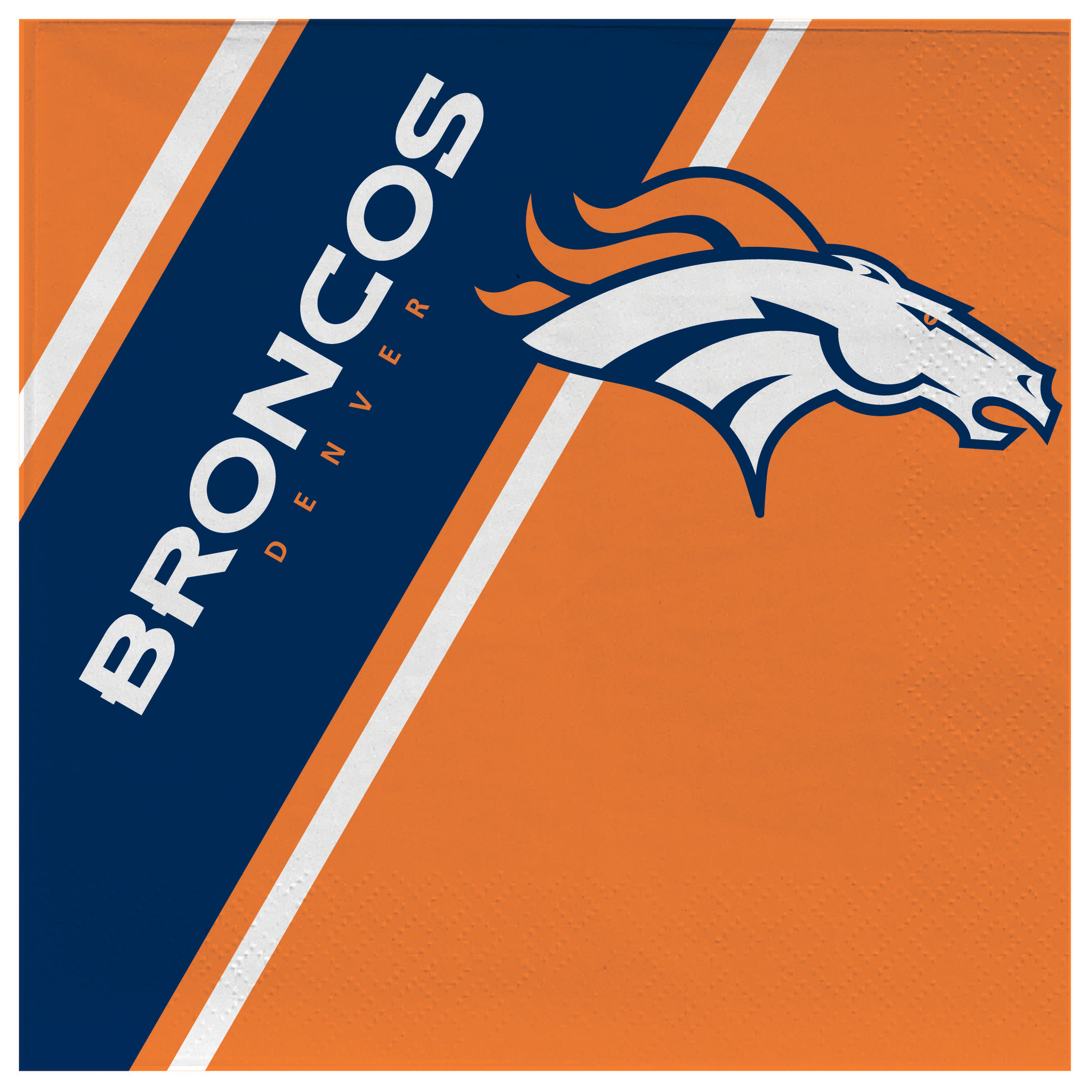 Football Nfl Football Denver Broncos Bath - 9413106108 - Denver Broncos Disposable Napkins 9413106108