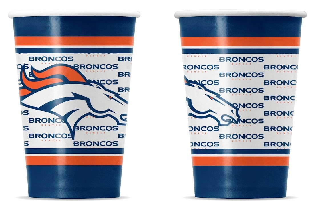 Special Populations Art Papers - 9413106044 - Denver Broncos Disposable Paper Cups 9413106044