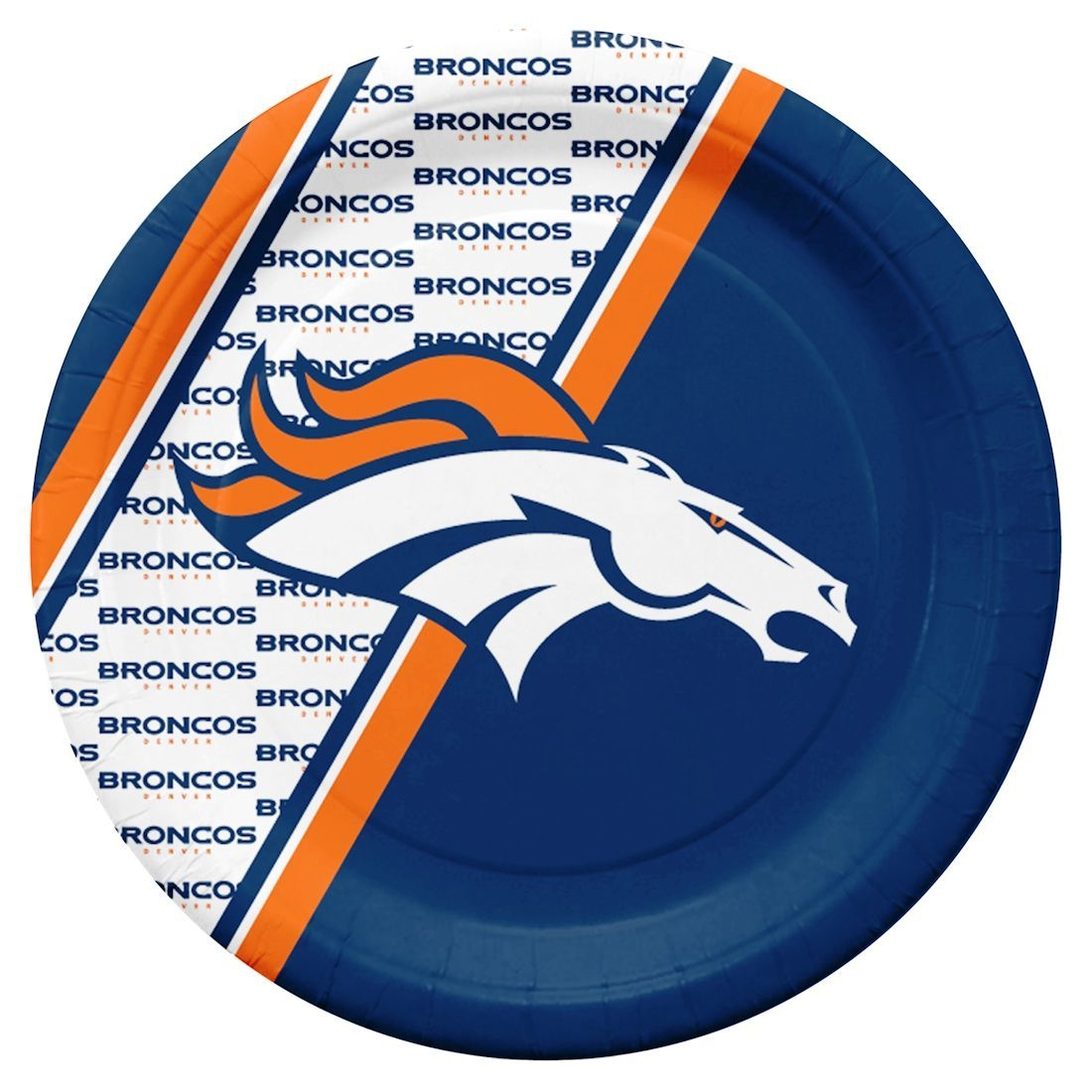 Football Nfl Football Denver Broncos License Plates Frames - 9413106076 - Denver Broncos Disposable Paper Plates 9413106076