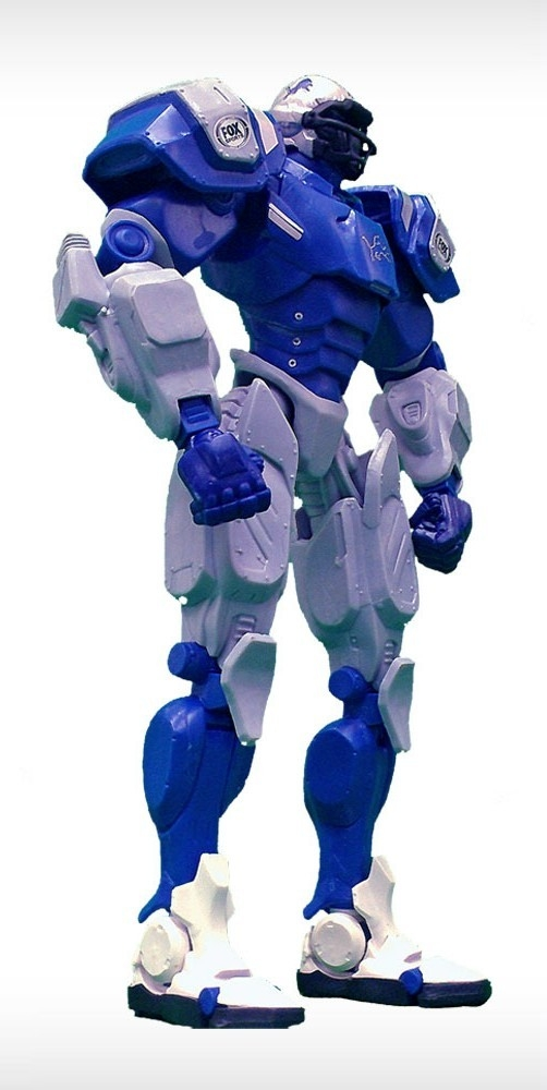 Football Nfl Football Detroit Lions Robots Figurines - 1263301721 - Detroit Lions Fox Sports Robot 1263301721
