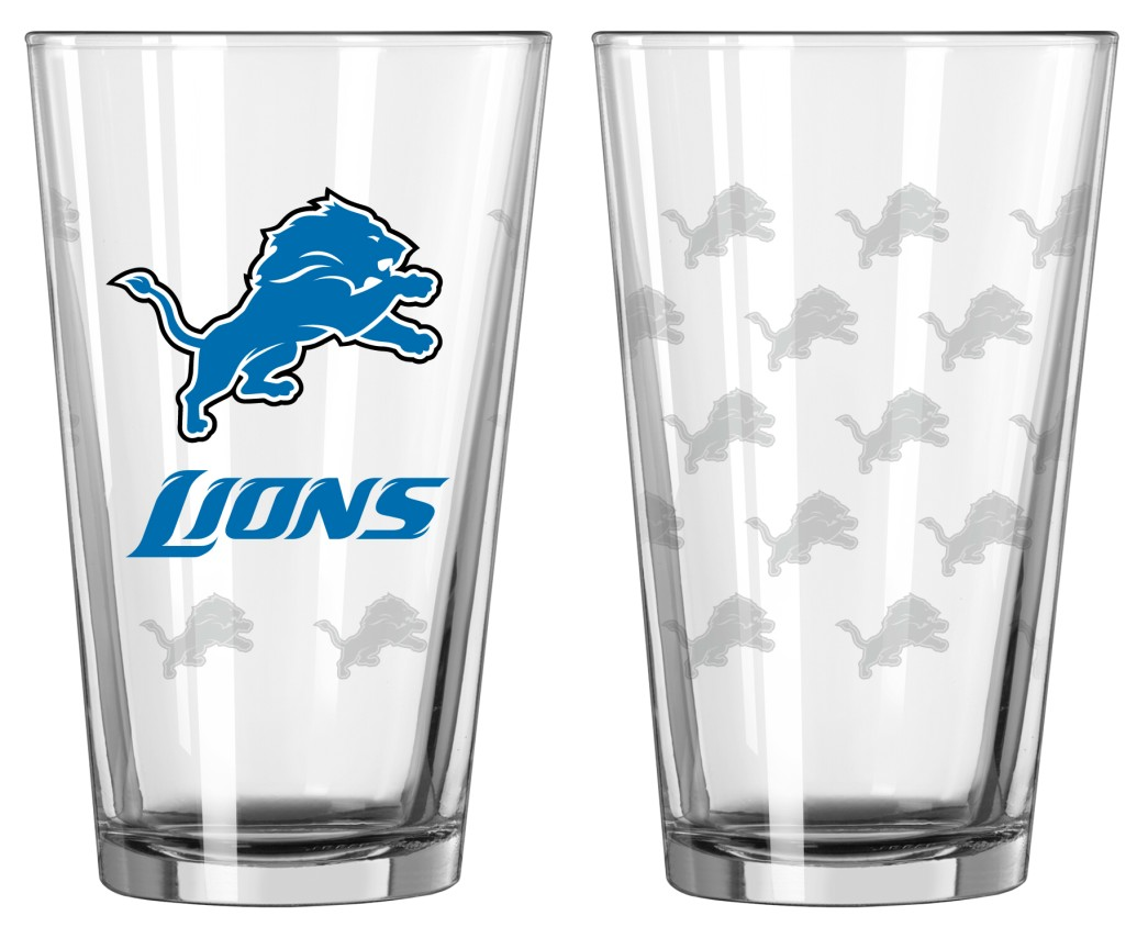 Football Nfl Football Detroit Lions Tumblers And Pint Glasses - 4245102205 - Detroit Lions Satin Etch Pint Glass Set 4245102205