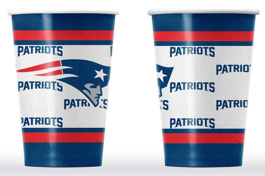 Special Populations Art Papers - 9413106052 - New England Patriots Disposable Paper Cups 9413106052