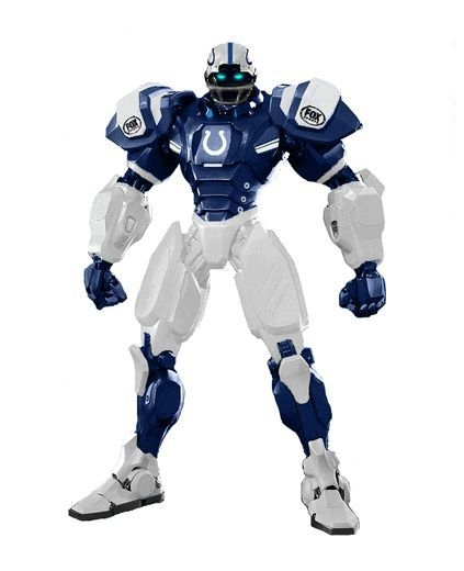 Football Nfl Football Indianapolis Colts Robots Figurines - 1263301727 - Indianapolis Colts Fox Sports Robot 1263301727