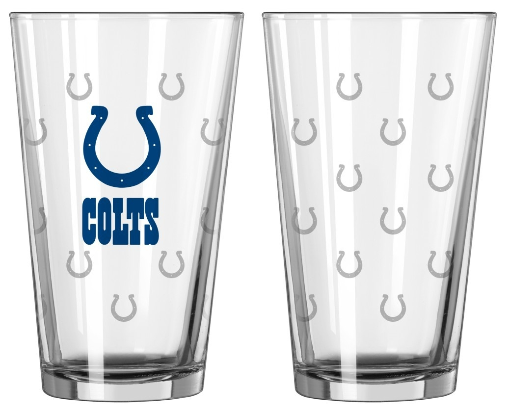 Football Nfl Football Indianapolis Colts Tumblers And Pint Glasses - 4245102208 - Indianapolis Colts Satin Etch Pint Glass Set 4245102208