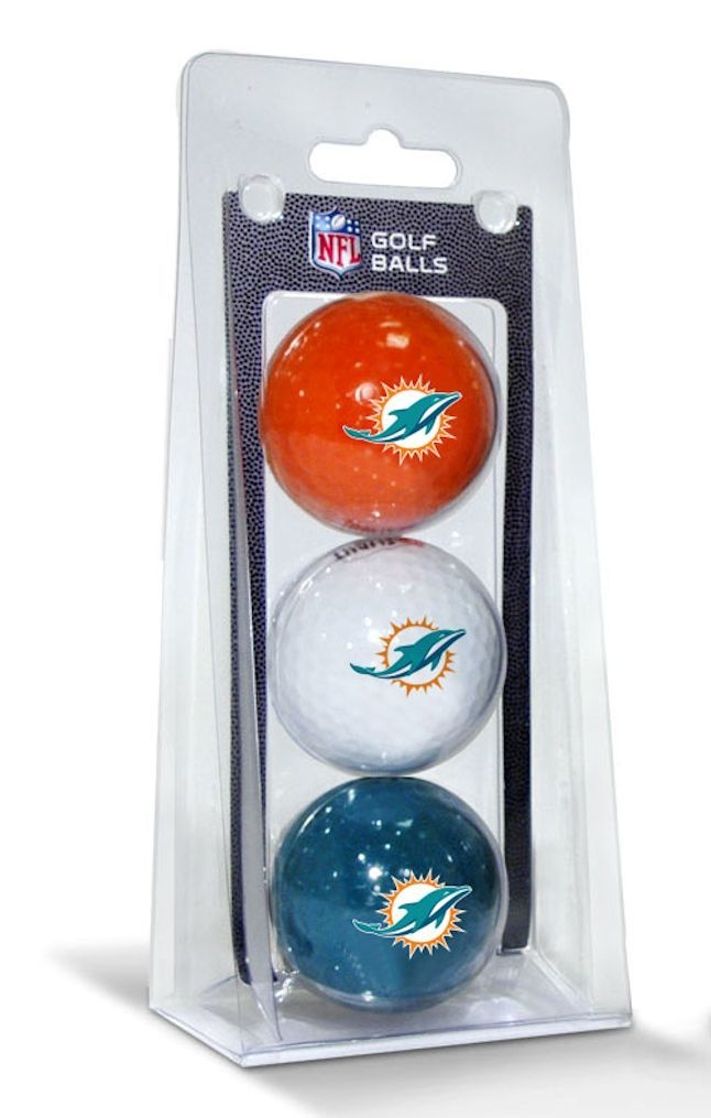 Outdoor Recreation Outdoor Games Disc Golf Disc Golf Sets - 3755631505 - Miami Dolphins 3 Pack Of Golf Balls 3755631505