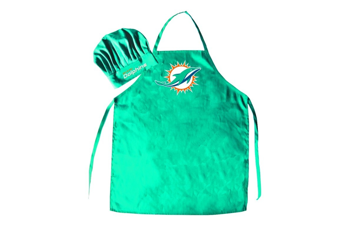 Football Nfl Football Miami Dolphins Aprons - 5717535318 - Miami Dolphins Apron And Chef Hat Set 5717535318