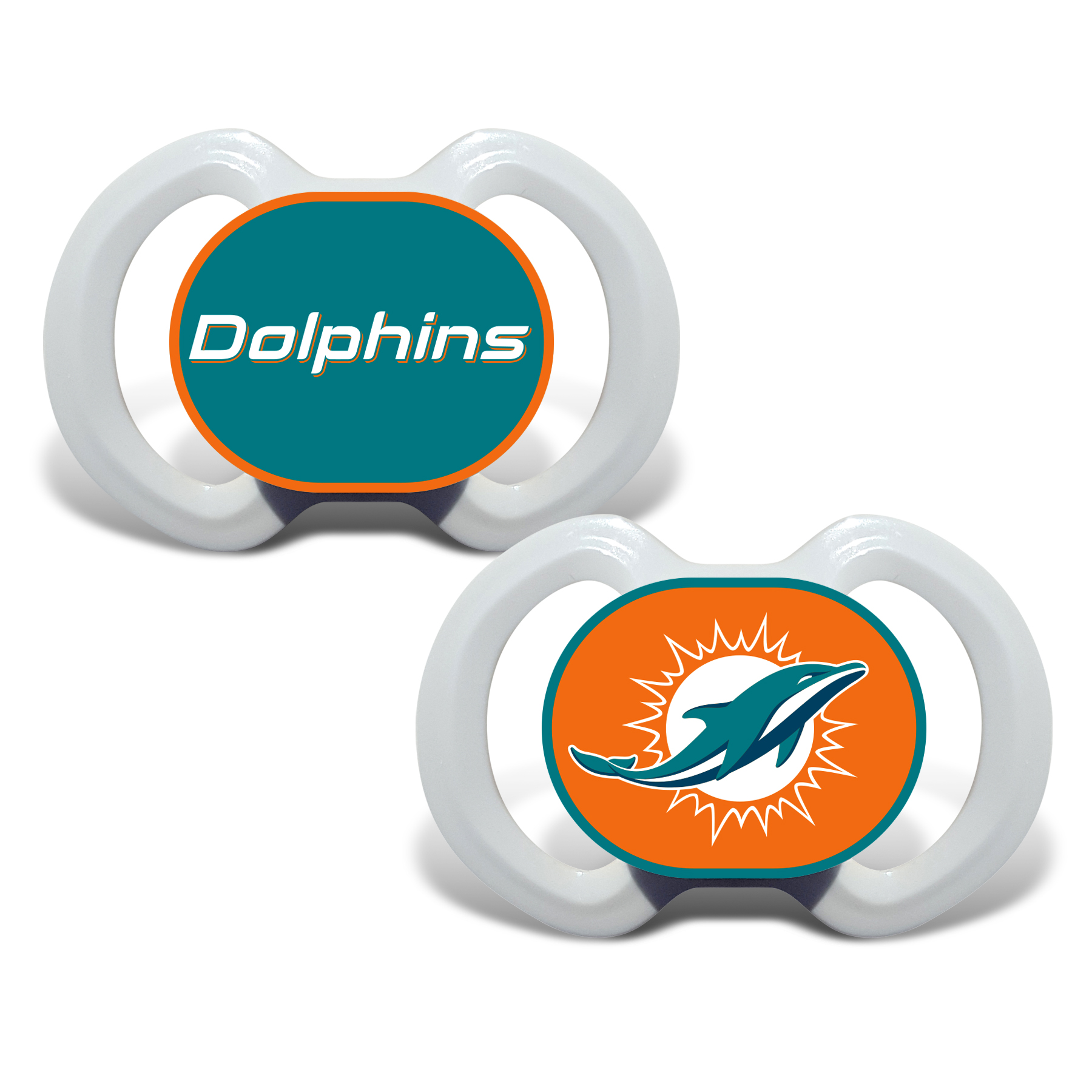 Football Nfl Football Miami Dolphins Baby Fan Gear - 1740702230 - Miami Dolphins Pacifier 2 Pack 1740702230