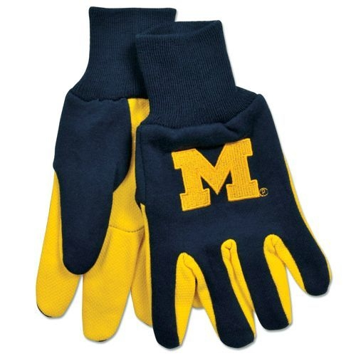 Collegiate Sports Ncaa College Michigan Mich Wolverines Gloves - 9960693960 - Michigan Wolverines Two Tone Gloves-adult 9960693960
