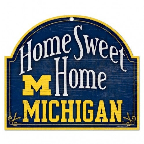 Collegiate Sports Ncaa College Michigan Mich Wolverines Indoor Home Office Signs - 3208587371 - Michigan Wolverines Wood Sign-arched Home 3208587371
