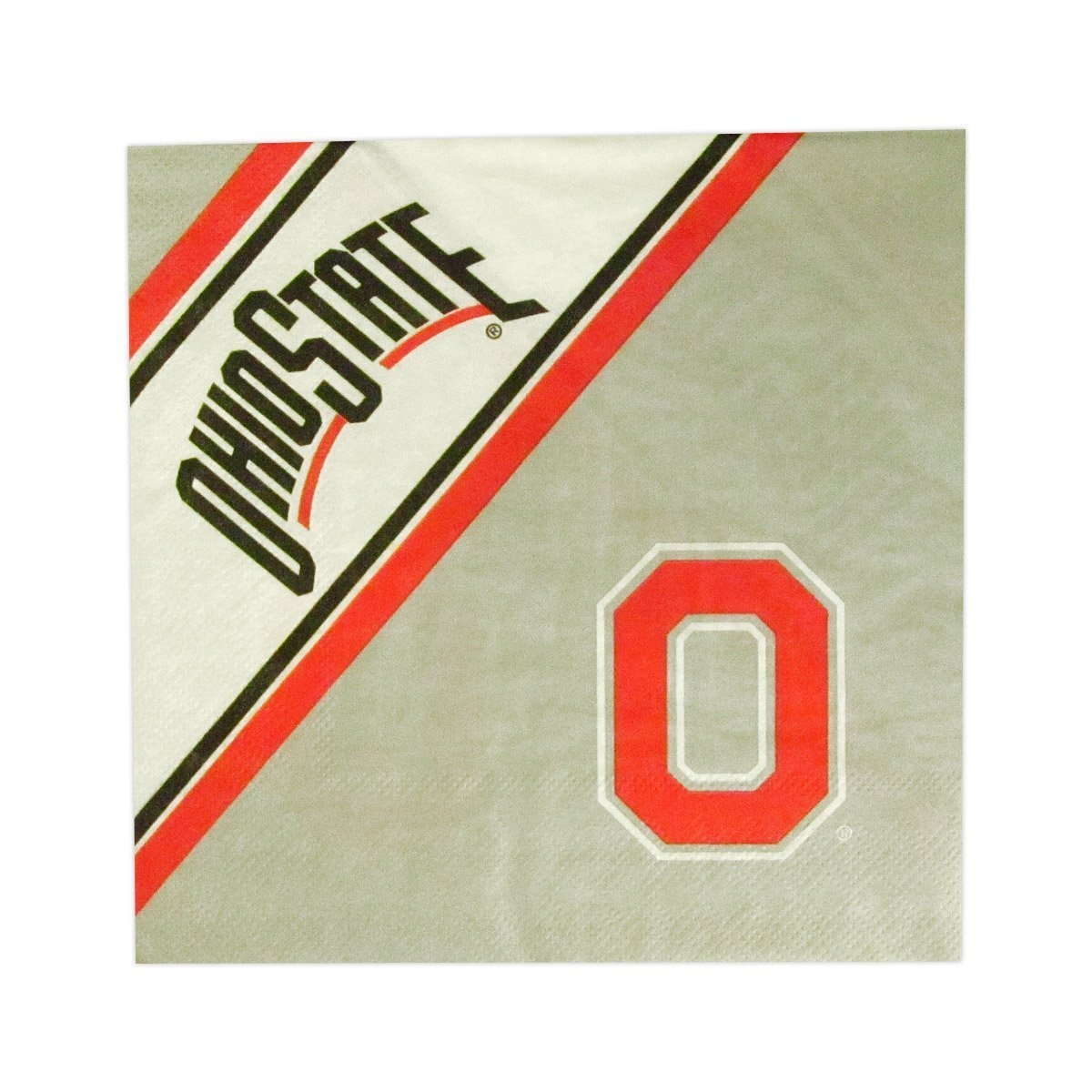 Collegiate Sports Ncaa College Ohio State Osu Buckeyes Bath - 9413107003 - Ohio State Buckeyes Disposable Napkins 9413107003