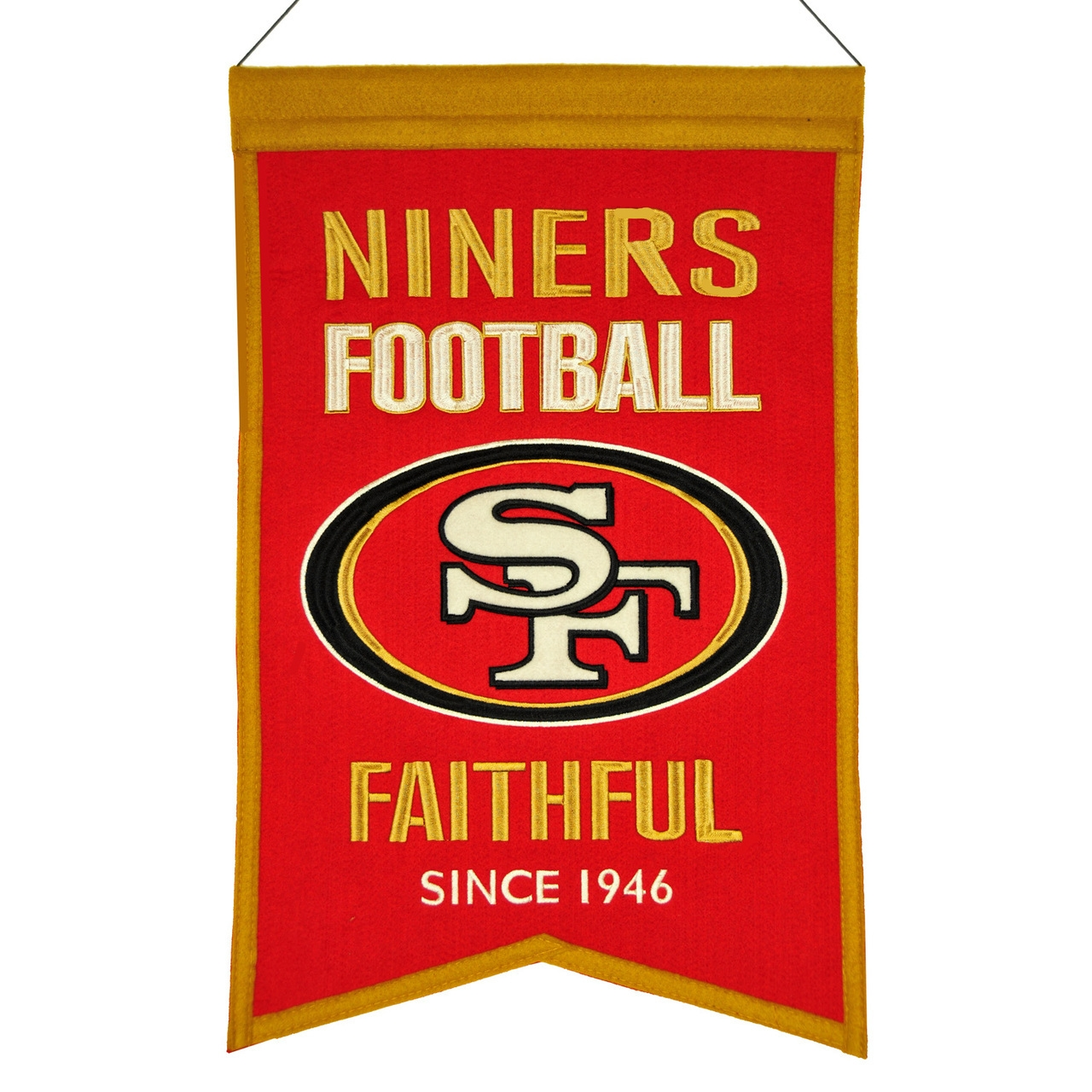 Football Nfl Football San Francisco 49ers Banners - 7408830111 - San Francisco 49ers Banner Wool Franchise 7408830111