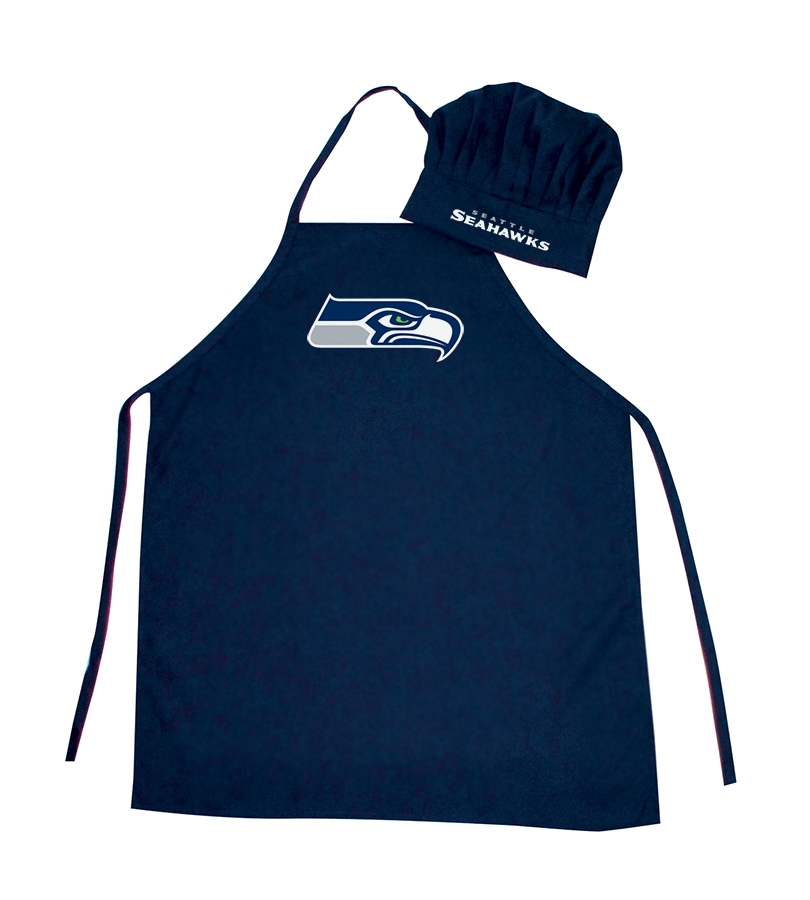Football Nfl Football Seattle Seahawks Aprons - 5717524086 - Seattle Seahawks Apron And Chef Hat Set 5717524086