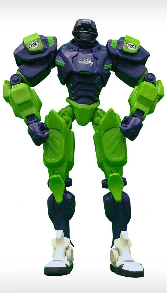 Football Nfl Football Seattle Seahawks Robots Figurines - 1263301755 - Seattle Seahawks Fox Sports Robot 1263301755