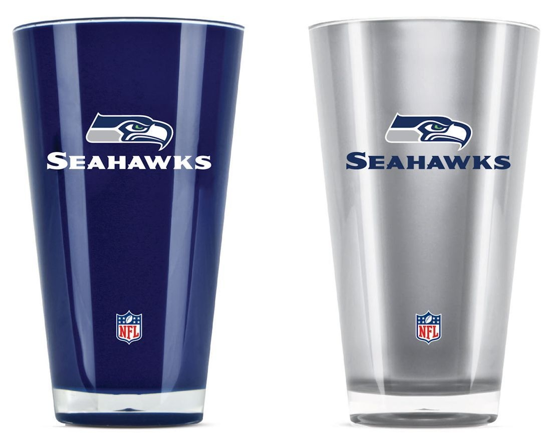 Football Nfl Football Seattle Seahawks Tumblers And Pint Glasses - 9413101601 - Seattle Seahawks Tumblers-set Of 2 (20 Oz) 9413101601