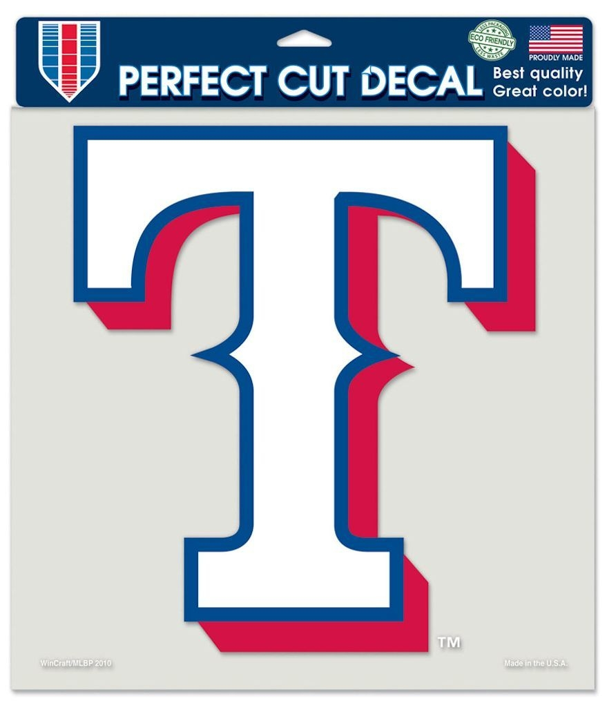 Football Die Cut Numbers - 3208579941 - Texas Rangers Decal 8x8 Die Cut Color 3208579941