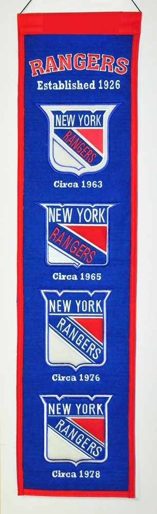 New York Rangers Banner 8x32 Wool Heritage - 7408847001 - Nhl Hockey New York Rangers Banners 7408847001