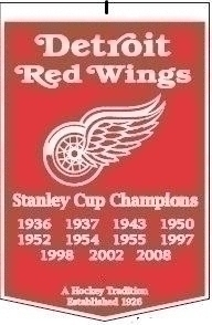 Detroit Red Wings Banner - 78000 - Combat Sports Weapons Wing Chun 78000