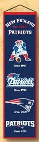 New England Patriots Heritage Banner - 44030 - Football Nfl Football New England Patriots Banners 44030
