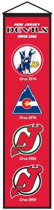 New Jersey Devils Heritage Banner - 47032 - Hockey Nhl Hockey New Jersey Devils Banners 47032