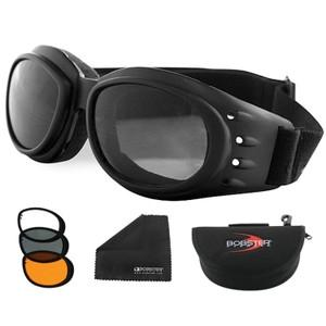 Bobster Cruiser 2 Interchange Goggle Black Frame 3 Lenses - 8012001 - Field Hockey Field Hockey Protective Gear Field Hockey Masks & Goggles 8012001