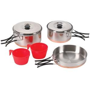 Gifts Gifts For Active People - 4002931 - Stansport Two Person Stainless Cook Set 4002931