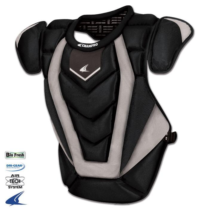 """Baseball And Softball Protective Gear Chest Protectors - Cp81o - Pro-plus Chest Protector Adult - 17.5"""" Length - Onyx - Adult CP81O"""