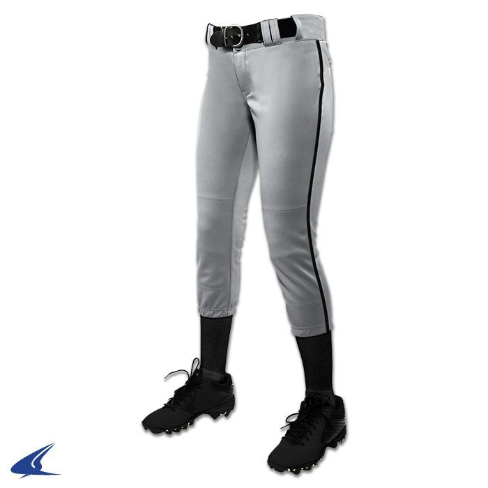 Clothing Uniforms Sports Uniforms Softball - Bp11pywbps - Tournament Women's Traditional Low Rise Pant W - Braid - White; Black Pipe - Girls' S BP11PYWBPS