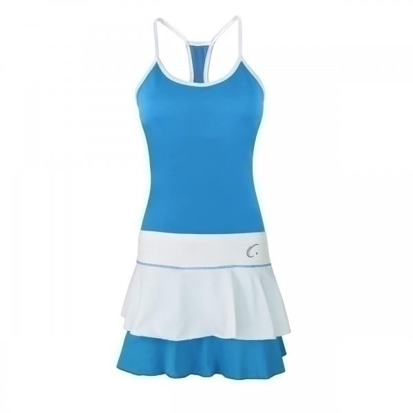 Clothing Shirts And Tops Womens - Cc1240-m/w - Malibu Blue W/ White Tank & Flounce Skort Matching Set CC1240-M/W