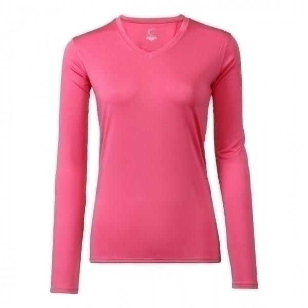Clothing Shirts And Tops Womens - Cc1227-a - Women Passion Pink Long Sleeve Performance Shirt - Spf 50+ Protection CC1227-A