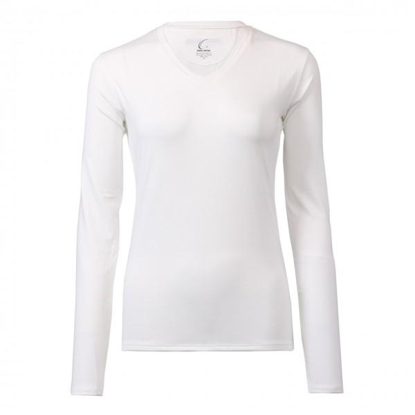 Clothing Shirts And Tops Womens - Cc1227-w - Women White Long Sleeve Performance Shirt - Spf 50+ Protection CC1227-W