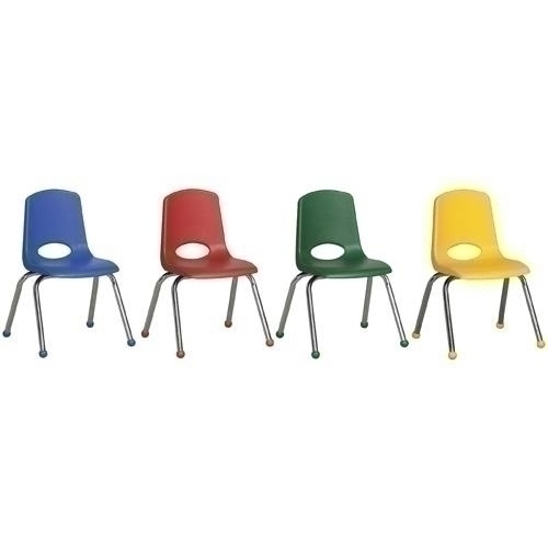 """Games Speed Stack - Elr-15141-as - 10"""" Stack Chair-chrome Legs-6pc-as ELR-15141-AS"""
