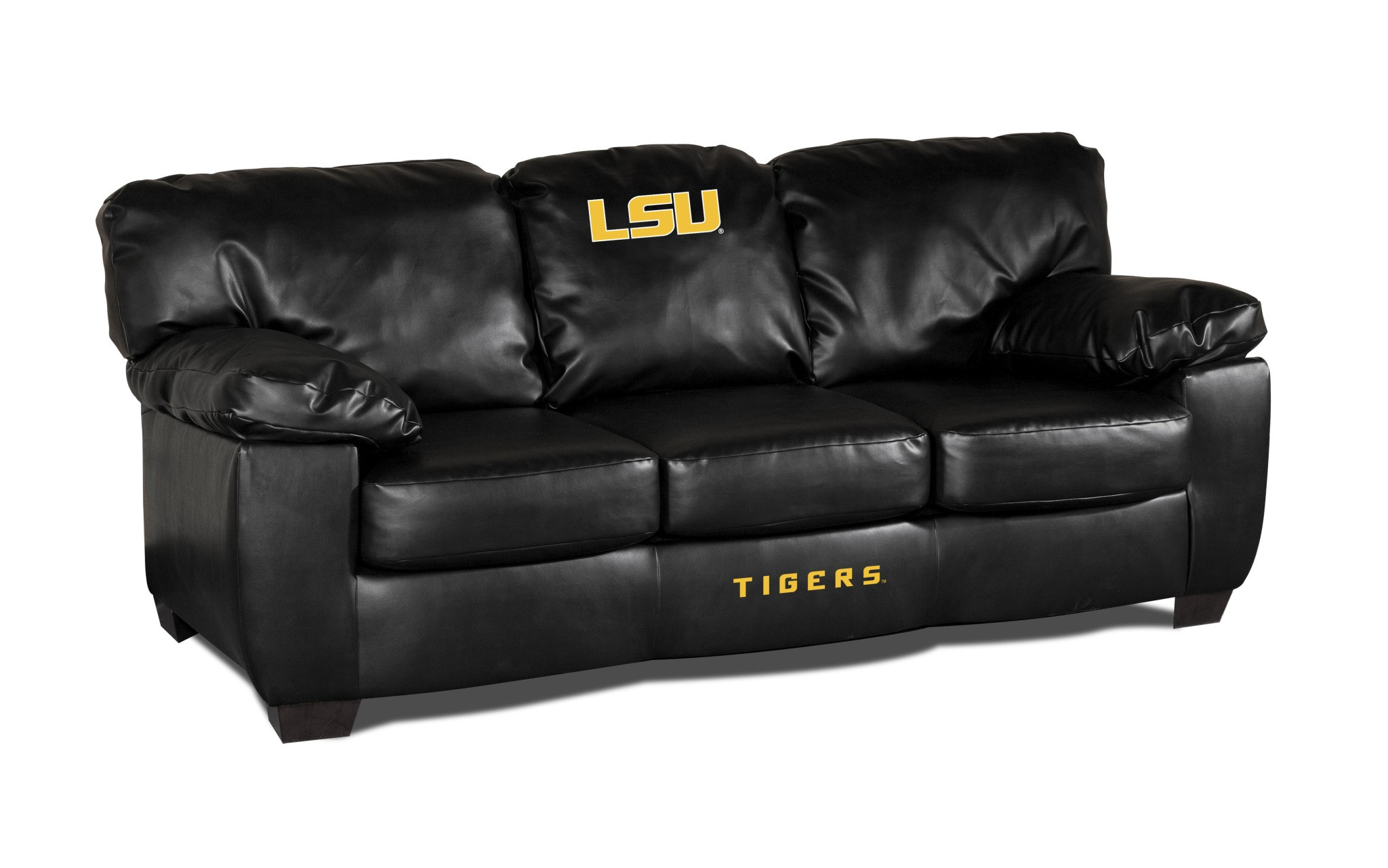 Louisiana State University Classic Leather Sofa - 79-6005 - Facilities Management Bar Furniture Bar Chairs 79-6005