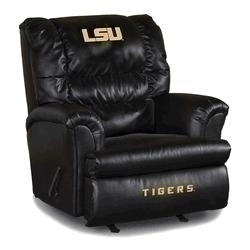 Facilities Management Bar Furniture Bar Chairs - 79-3005 - Louisiana State University Leather Big Daddy Recliner 79-3005