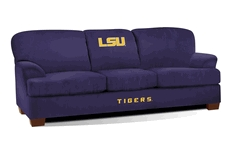 Facilities Management Bar Furniture Bar Chairs - 305-6005 - Louisiana State University First Team Microfiber Sofa 305-6005