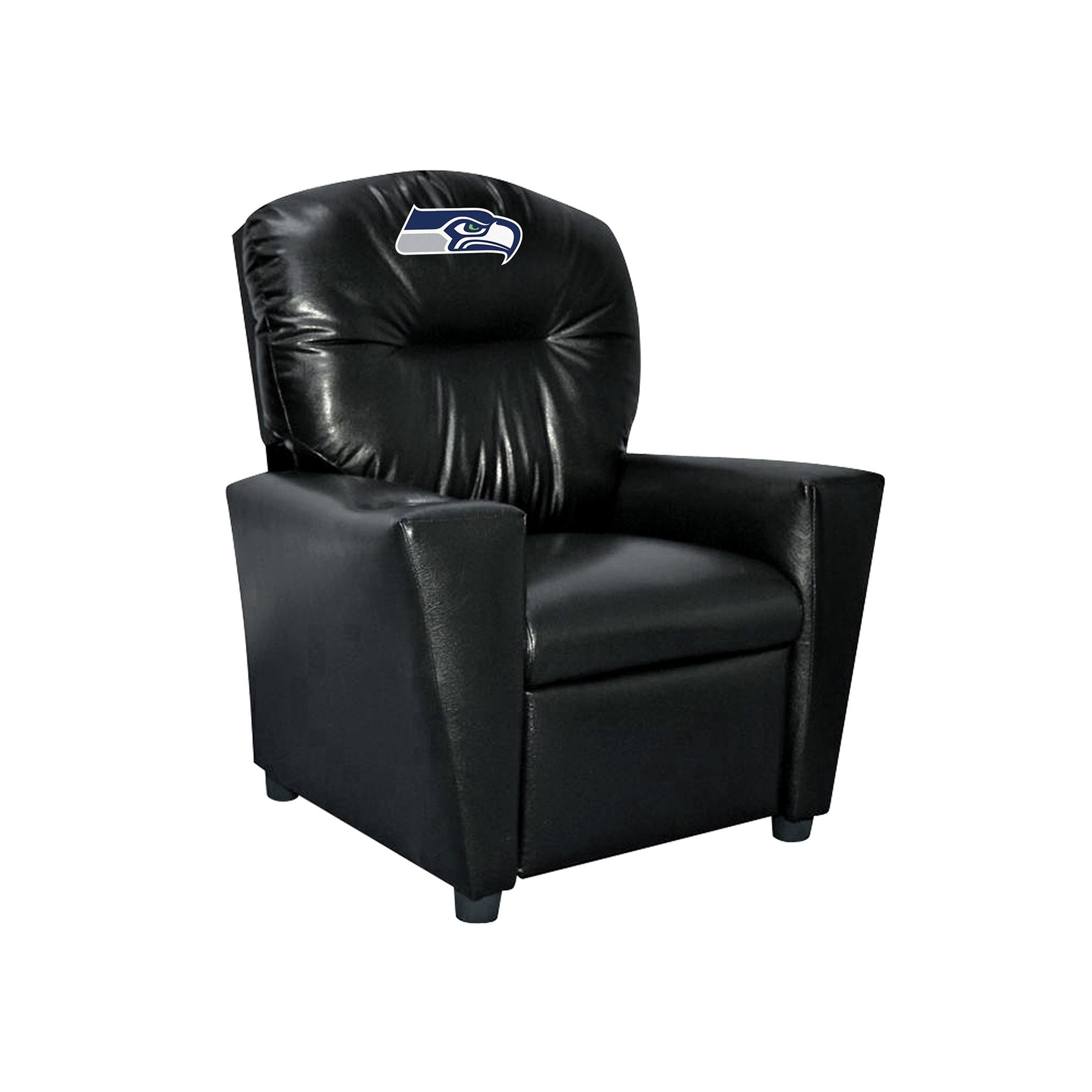 Seattle Seahawks Kids Faux Leather Recliner - 107-1024 - Football Nfl Football Seattle Seahawks Kids Dish Sets 107-1024