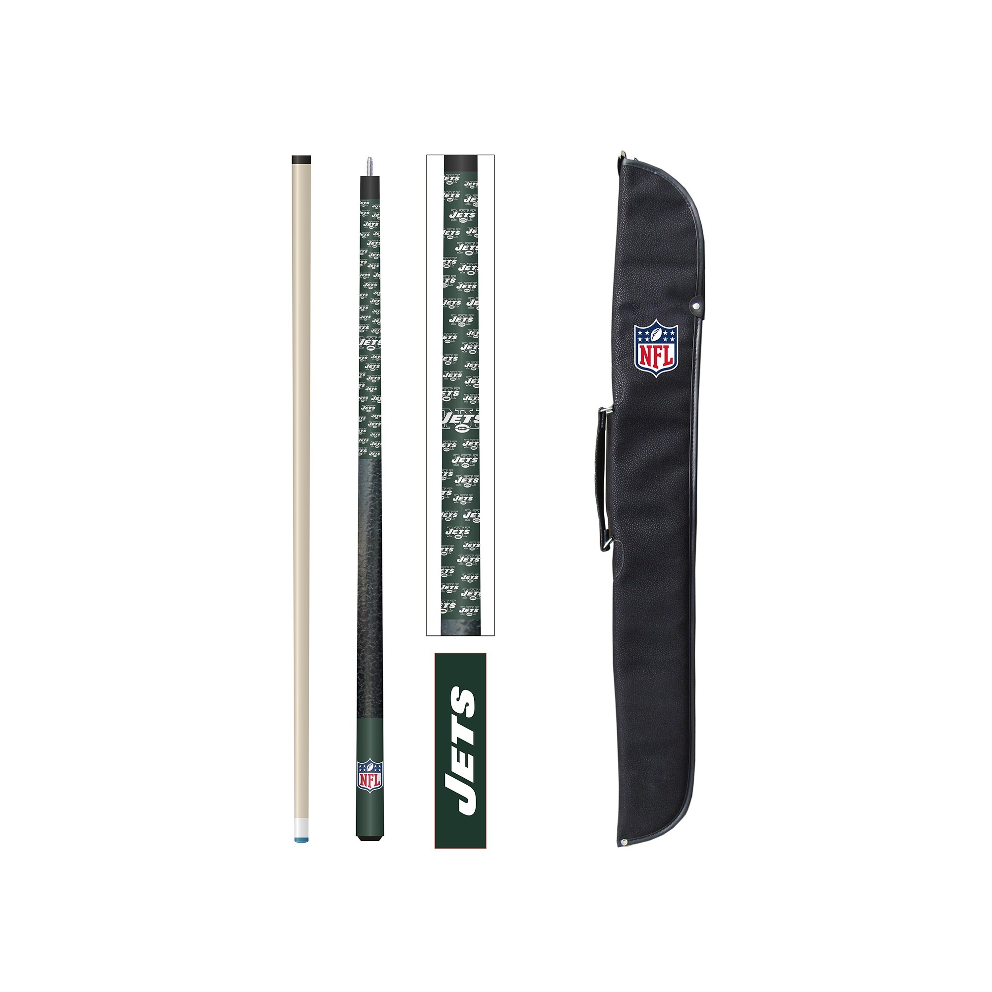 Football Nfl Football New York Jets Cases - 72-1012 - New York Jets Cue And Case Set 72-1012