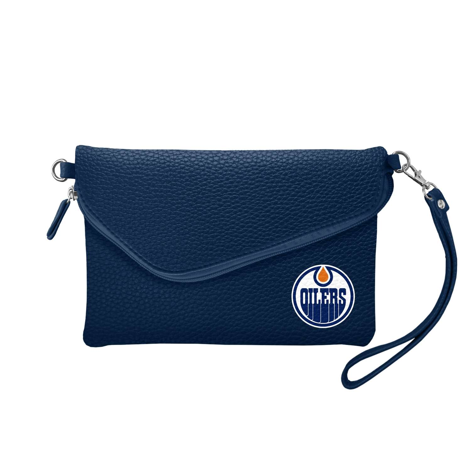 Hockey Nhl Hockey Edmonton Oilers Bath - 500432-oilr-navy - Edmonton Oilers Fold Over Crossbody Pebble 500432-OILR-NAVY