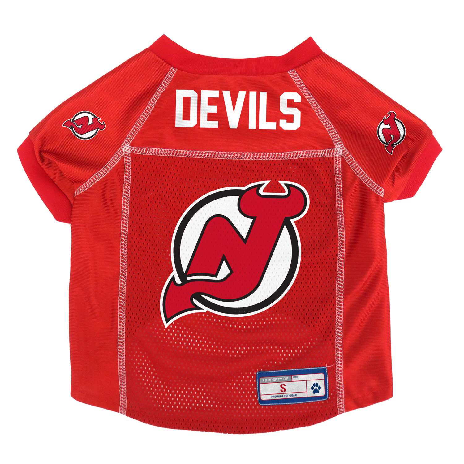 New Jersey Devils Pet Jersey - 520134-devl-s - Hockey Nhl Hockey New Jersey Devils Pet Fan Gear 520134-DEVL-S