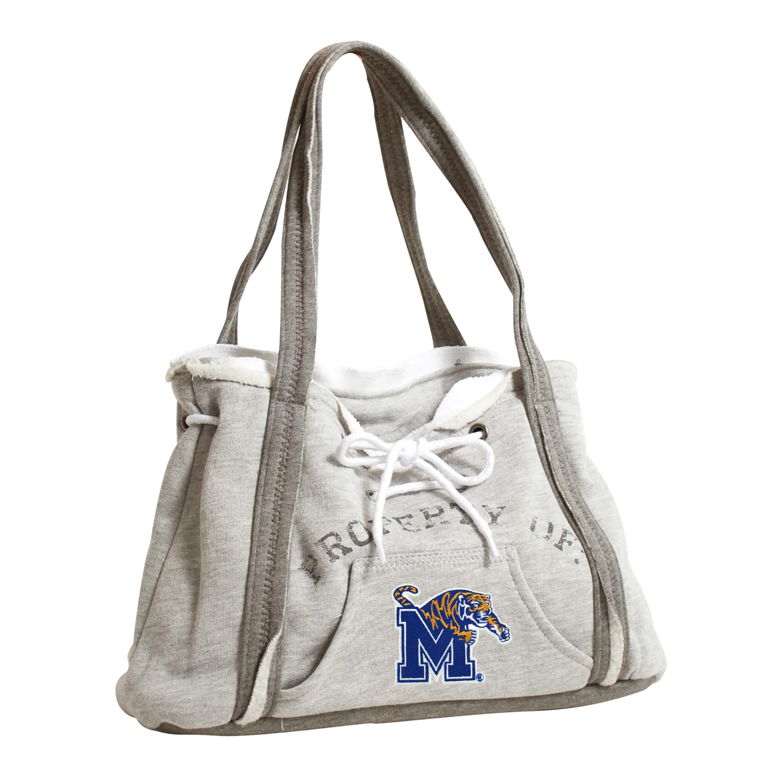 Ncaa College Memphis Mem Tigers Purses Wristlets Totes - 150404-umem-grey - Memphis; U Of Hoodie Purse 150404-UMEM-GREY