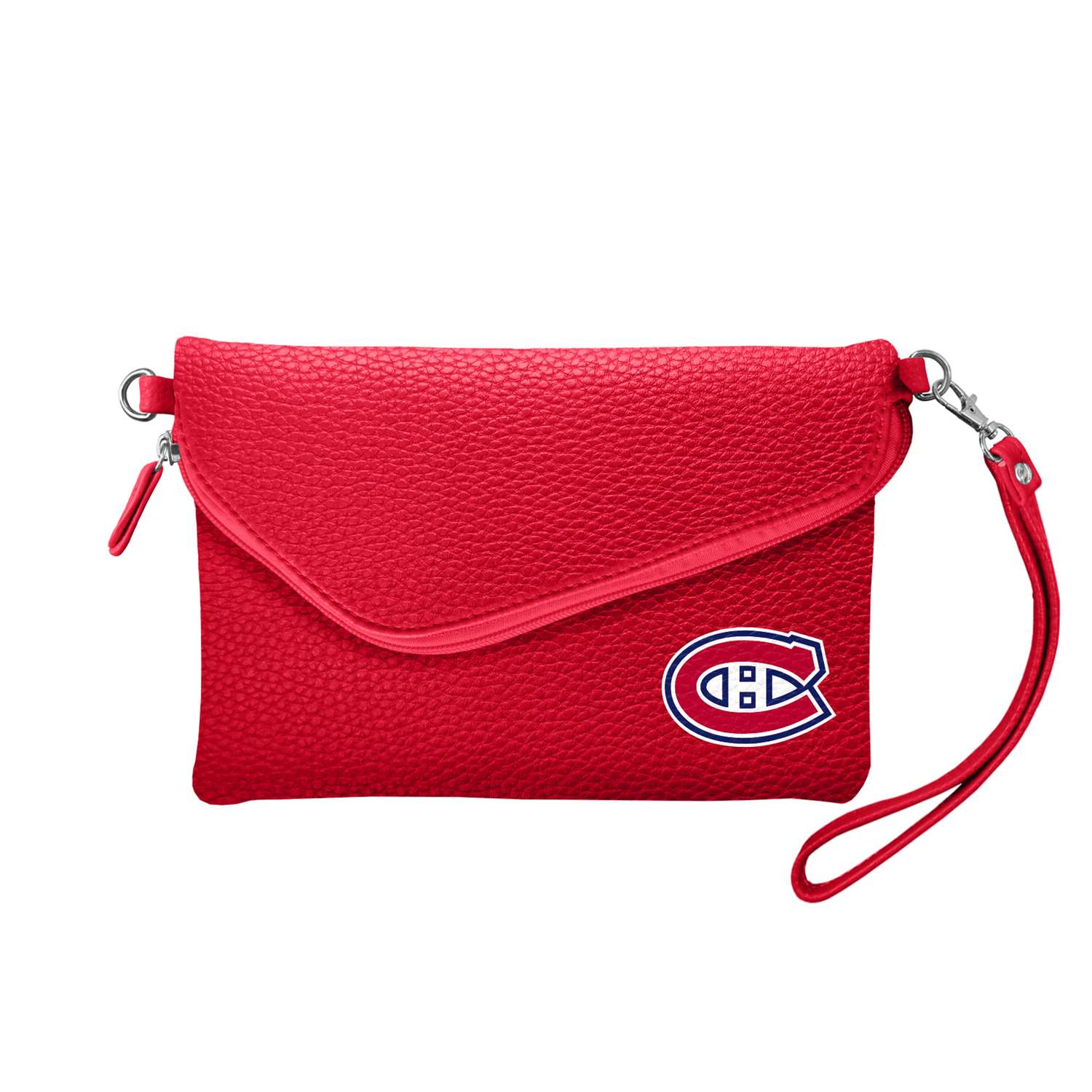 Nhl Hockey Montreal Canadiens Bath - 500432-cand-lred - Montreal Canadiens Fold Over Crossbody Pebble 500432-CAND-LRED