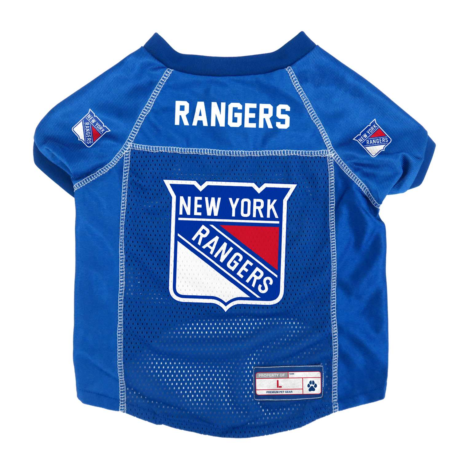 Physical Therapy Pet Care Courses & Accessories - 520134-rngr-l - New York Rangers Pet Jersey 520134-RNGR-L