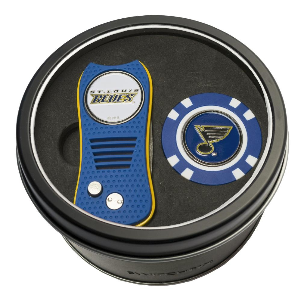 St. Louis Blues Switchfix + Golf Chip Tin Gift Set - 15453 - Physical Education And Recreation Physical Education And Recreation Audio 15453