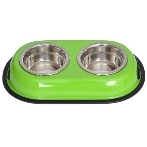 Color Splash Stainless Steel Double Diner (green) For Dog Or Cat-1/2 Pt-8 Oz-1 Cup - 92036 - Tennis Gifts Gifts 92036