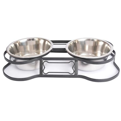 Heavy Duty Pet Double Diner For Dog Or Cat (bone Design)-2 Qt-64 Oz-8 Cup - 92048 - Tennis Gifts Gifts 92048