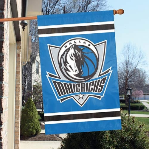 Dallas Mavericks Appliqu Banner Flag - Afmav - Officiating Linesman Flags AFMAV