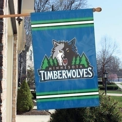 Minnesota Timberwolves Appliqu Banner Flag - Aftim - Basketball Nba Basketball Minnesota Timberwolves Indoor Home Office Banners AFTIM