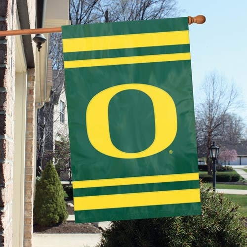 Oregon Ducks Appliqu Banner Flag - Afuo - Officiating Linesman Flags AFUO
