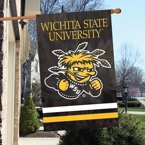 Wichita State Shockers Appliqu Banner Flag - Afwsu - Officiating Linesman Flags AFWSU