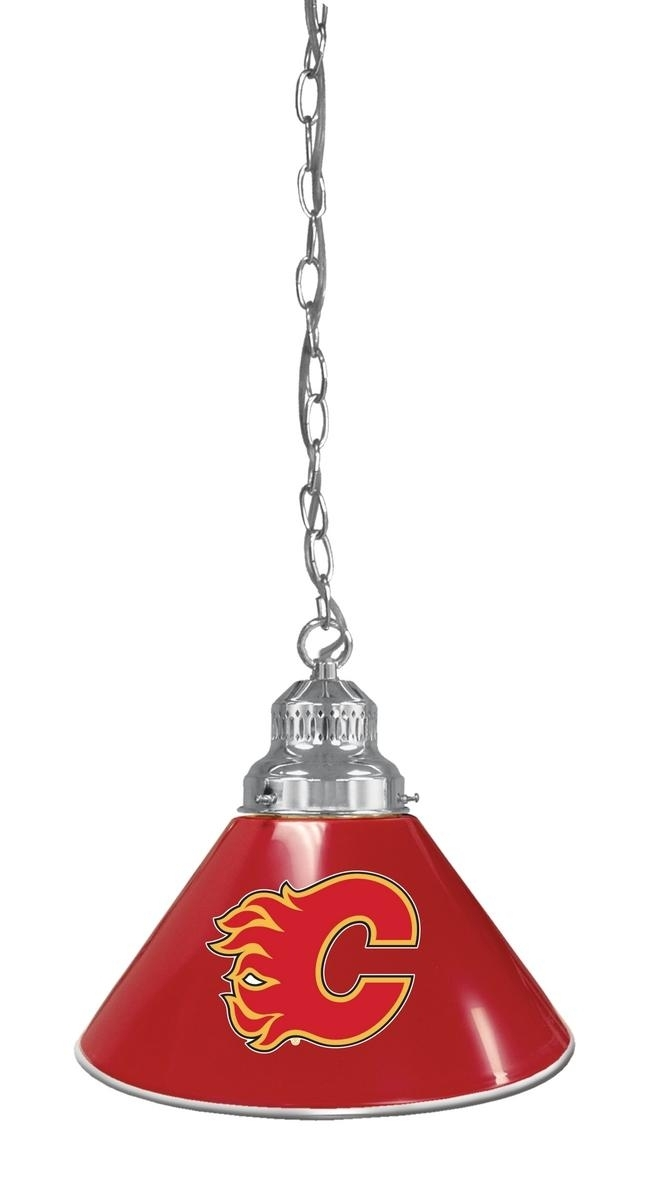 Calgary Flames Pendant Light-logo Billiard Light - Bl1chcalfla - Indoor Games Nhl BL1CHCALFLA